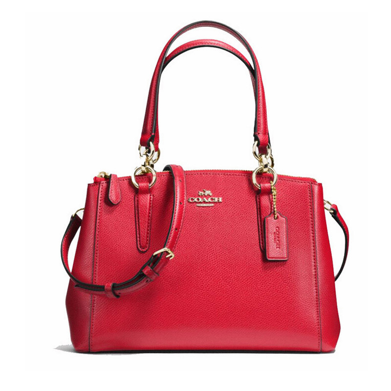 Coach Stanton Carryall 26 In Crossgrain Leather Red