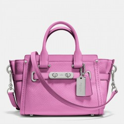 Coach Swagger Carryall 20 In Pebble Leather Pink