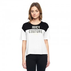 Juicy Couture Iconic Tee T012 Women T-Shirt Black/White