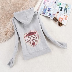Juicy Couture Logo Sequin Velour Jacket 2199 Women Hoody Grey