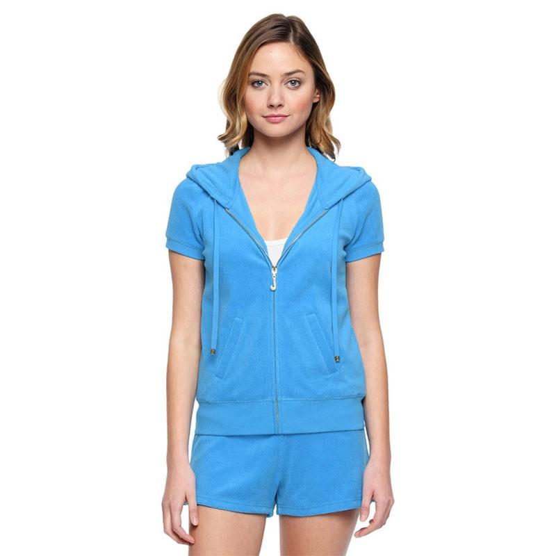 Juicy Couture Original Velour Tracksuit 607 2pcs Women Suits Blue