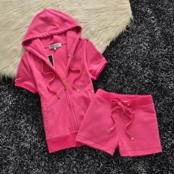 Juicy Couture Original Velour Tracksuit 607 2pcs Women Suits Rose