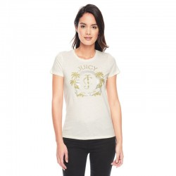 Juicy Couture Palm Trees Graphic Tee T009 Women T-Shirt White