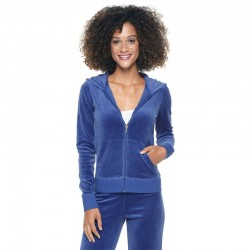 Juicy Couture Sequin Crown Velour Tracksuit 602 2pcs Women Suits Blue