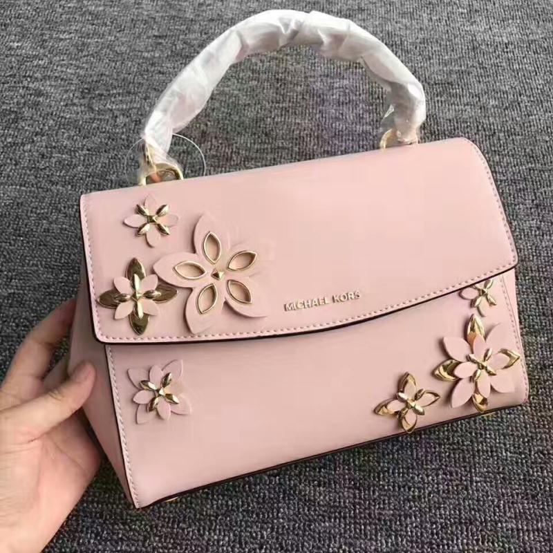 MICHAEL Michael Kors Ava Medium Floral Leather Satchel Pink