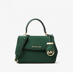 MICHAEL Michael Kors Ava Small Saffiano Leather Satchel Green