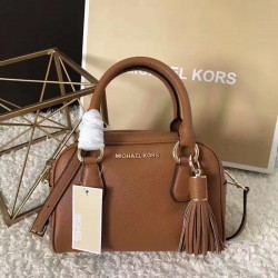 MICHAEL Michael Kors Bedford Small Tassel Leather Satchel Brown