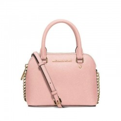 MICHAEL Michael Kors Cindy Small Saffiano Leather Satchel Pink