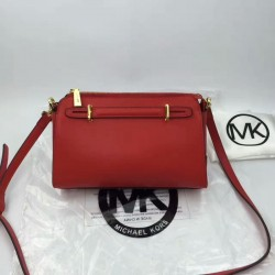 MICHAEL Michael Kors Mabel Medium Top-Zip Satchel Red