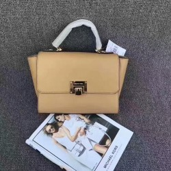 MICHAEL Michael Kors Tina Leather Satchel Brown