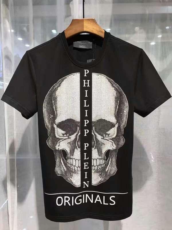 Philipp Plein SS2017 Mens T-Shirt Boston Skull Black