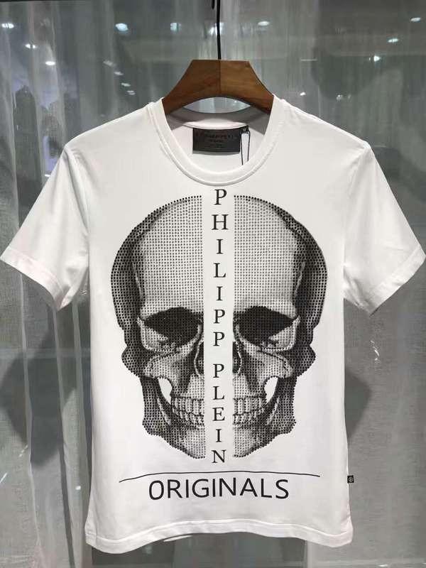 Philipp Plein SS2017 Mens T-Shirt Boston Skull White