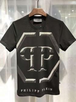 Philipp Plein SS2017 Mens T-Shirt Hexagonal Logo Black