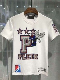 Philipp Plein SS2017 Mens T-Shirt Misty Fly White