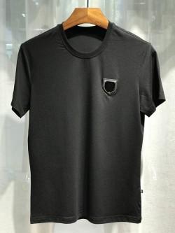 Philipp Plein SS2017 Mens T-Shirt One Logo Simple Black