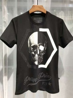 Philipp Plein SS2017 Mens T-Shirt Shio Brand Skull Black