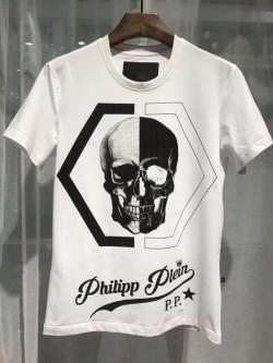 Philipp Plein SS2017 Mens T-Shirt Shio Brand Skull White