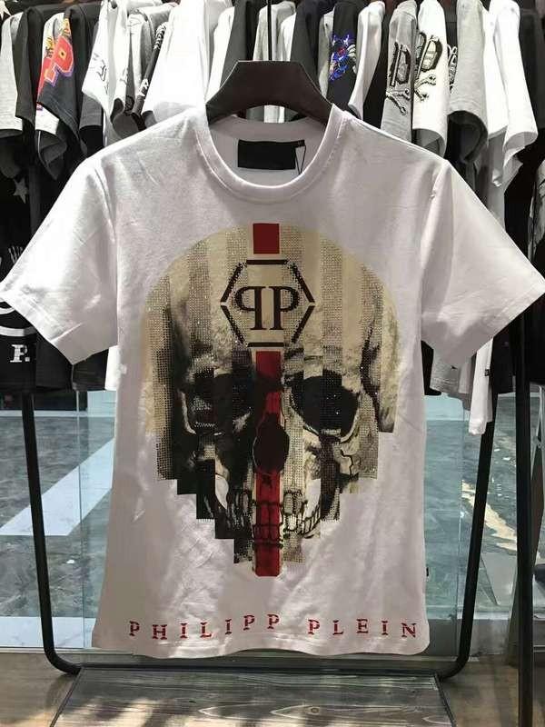 Philipp Plein SS2017 Mens T-Shirt Skull Devil White