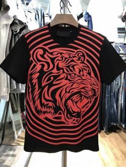 Philipp Plein SS2017 Mens T-Shirt Tribal Plein Red