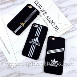 Adidas アイフォン 8plusケース 運動風 黒 アディダス iPhone8 ケース ペア 男女
