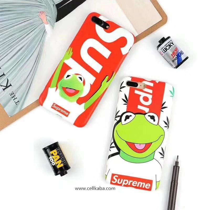 Supreme シュプリーム iPhone8 iphone7 plus ソフトケース アイフォン8 ジャケット 蛙 パロティ