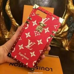 ルイヴィトン シュプリーム モノグラム柄 アイフォン8 プラス カバー かっこいい LV iphone xケース