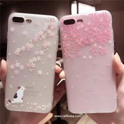 オリジナル iphone8plusケース 可愛い iphone7ケース 桜 花柄 芸能人愛用