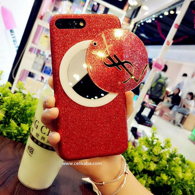 イヴサンローラン YSL iPhone8 plus ケース 女性 アイフォン8ケース 鏡付き
