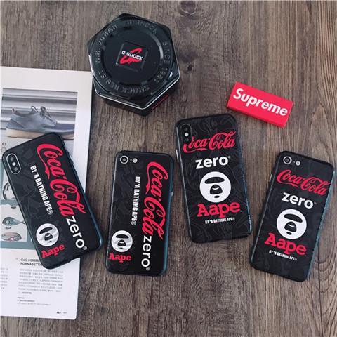 商品名:AAPE iphoneX ハードケース ブランド エーエイプ iphone8 カバー アイフォン7/7plus/6s/6splus/ ...