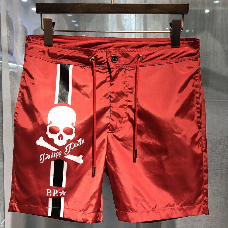Philipp Plein SS2017 Mens Beach Short Skull Red