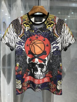 Philipp Plein SS2017 Mens T-Shirt Classic Skull Black