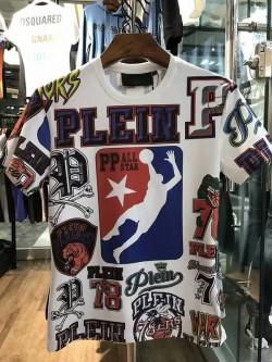 Philipp Plein SS2017 Mens T-Shirt Dip All Star White