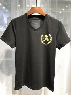 Philipp Plein SS2017 Mens T-Shirt Glaucos Skull Black