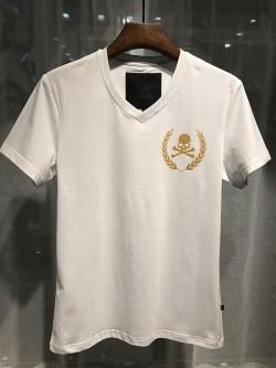 Philipp Plein SS2017 Mens T-Shirt Glaucos Skull White