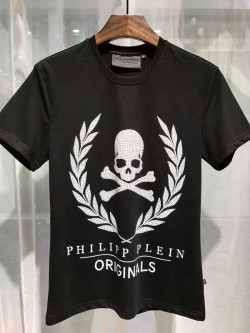 Philipp Plein SS2017 Mens T-Shirt Golden Skull Black