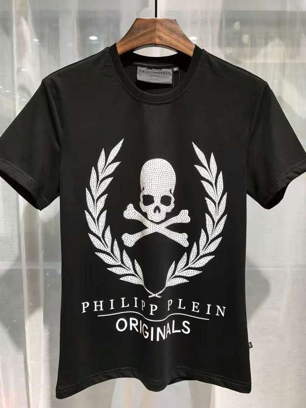Philipp Plein SS2017 Mens T-Shirt Golden Skull Black