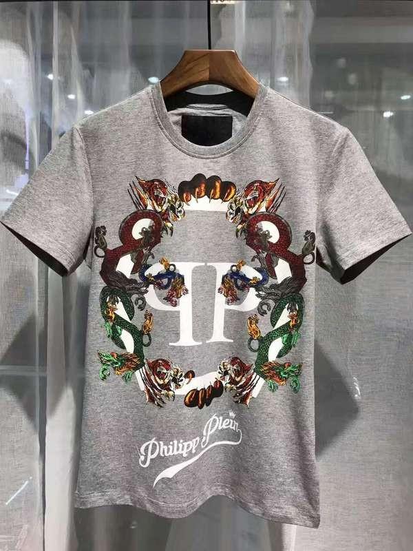 Philipp Plein SS2017 Mens T-Shirt Plein's Animals Grey