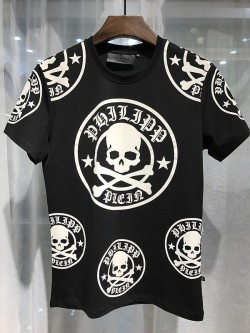 Philipp Plein SS2017 Mens T-Shirt Plum Skull Black