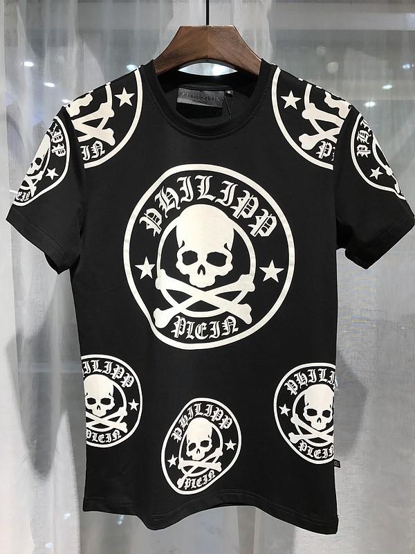 Philipp Plein SS2017 Mens T-Shirt Plum Skull Black