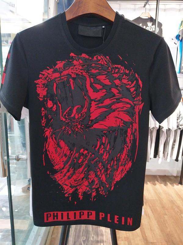 Philipp Plein SS2017 Mens T-Shirt Roar Tiger Head Black
