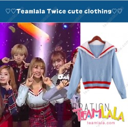 cute Twice sailor uniform sweater Concert dance clothes