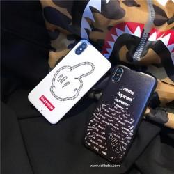 ブラント シュプリーム iPhoneXカバー Supreme 個性 iPhone8カバー カッコイイ パロディ風 ジャケット