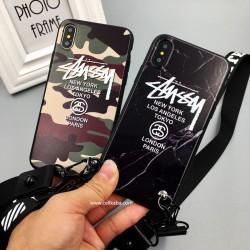 ブランド ステューシー iphoneXケース STUSSY アイフォン8プラスケース アイフォン8ケース カッコイイ