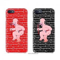 Supreme The simpsons コラボ iPhone8 plusケース アイフォンx ペアケース iphone6s 保護カバー
