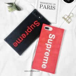 ブランド シュプリーム iPhone Xケース シンプル アップリケ アイフォン8カバー カップル オシャレ