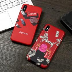 ブラント シュプリーム iPhone Xカバー Supreme 個性 iPhone8カバー カッコイイ パロディ風 薄い 男女