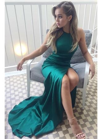 Sexy Split Halter Straps Green Evening Dresses 2017 Cheap Formal Prom Dress BA6752_$99 Dresses_W ...