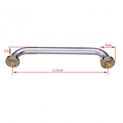 Chrome Grab Bar Brass Bathroom