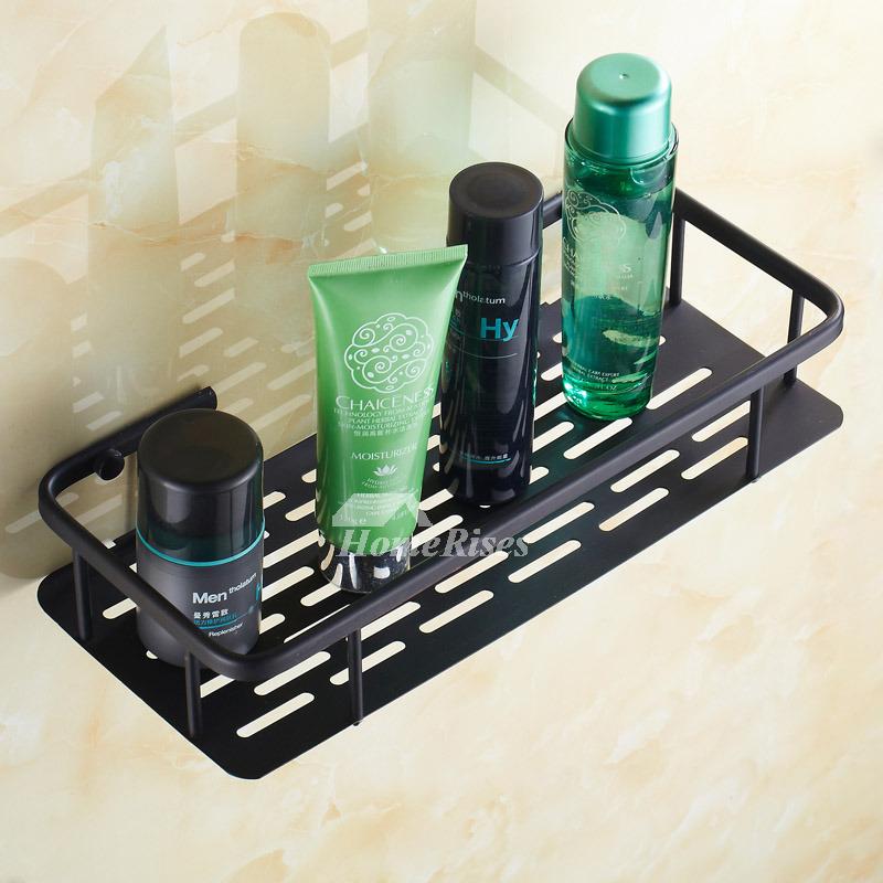 Oil-rubbed Bronze Black Bathroom Shelves