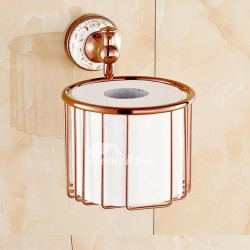 Rose Gold Pink Toilet Paper Holder